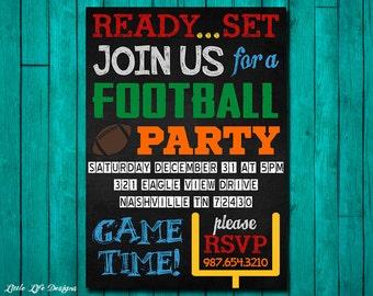 Football Invitation. Football Party Invitation. Superbowl Party Invitation. Football Party Invite. Football Party Idea. Superbowl Party 2017