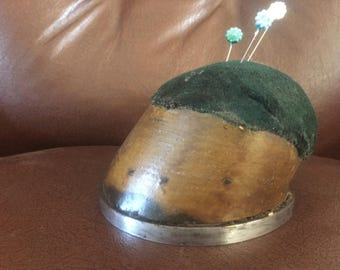 Antique Horses Hoof Pin Cushion - Cabinet of Curiosity - Oddity
