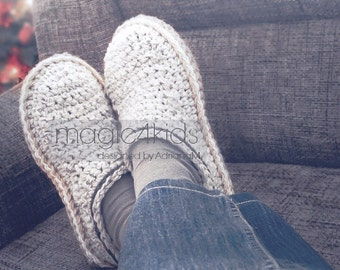 MADE TO ORDER Crochet slippers, men crochet slippers, crocheted slippers, wool crocheted clogs, men crocheted loafers, men scuffs,Xmas gift
