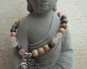 Yoga Armband Edelsteine Hamsa Buddha