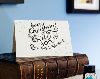 To My Son & His Boyfriend Letterpress Christmas Card