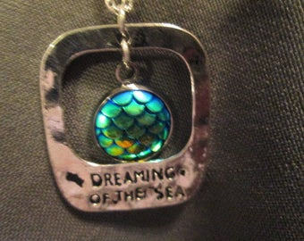 Mermaid Dreaming of the Sea Necklace