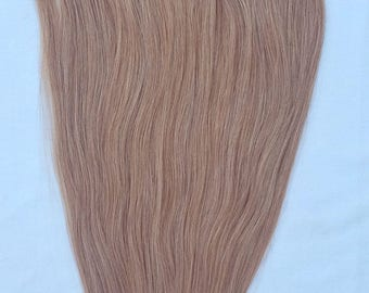 22 inches 7pcs Clip In Human Hair Extensions 27 Strawberry Blonde