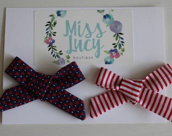 Forth of July Bow Headbands or Clips