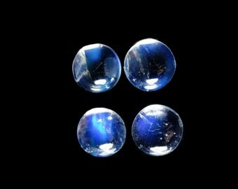 Rainbow Moonstone Cabs Round 6mm Approximately 3.00 Carat (12094)