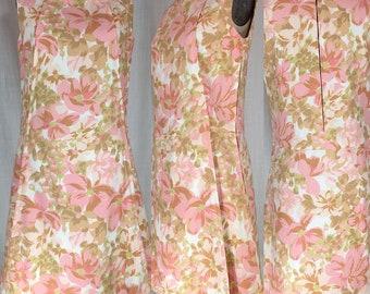 Vintage 1960's Pink Floral Mod Dress