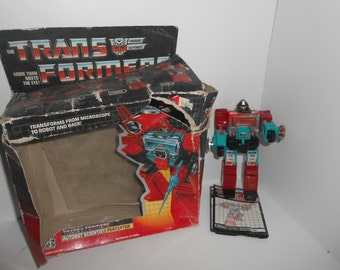 Vintage 80s 1985 G1 Transformers Autobot Perceptor w/ Instructions Box Incomplete