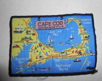 """Vintage Cape Cod Massachusetts Patch 4.25""""x3"""""""
