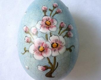 Easter Egg Veneto Flair Handpainted Ceramic 1976 Made In Italy Home Decor