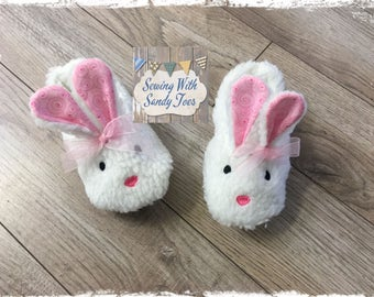 Baby Bunny Slippers, Handmade Baby Slippers, Baby Shoes, Baby Girl Shoes
