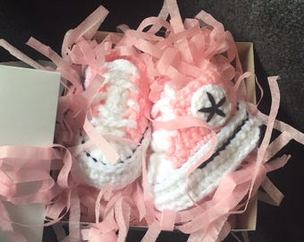 Infant Converse (inspired) Booties -size 1