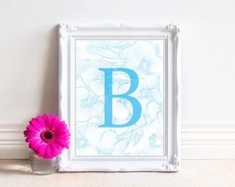 Alphabet Letters Printable, Letter B, Printable Monogram, Monogram Letters,Digital Letters, Digital Initial, INSTANT DOWNLOAD Printable Art