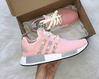 Adidas NMD Runner Made with SWAROVSKI® Xirius Rose Crystals - Grey/Pink/White