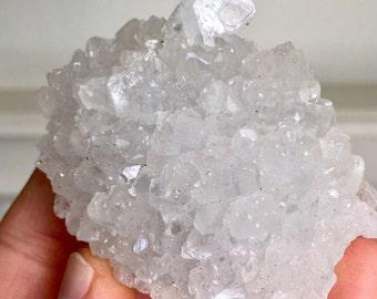 Top Quality 101g Apophyllite w/ Quartz Crystal Specimen - Jalgaon, India - Item:AP17010B