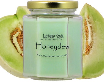 Honeydew Blended Soy Candle - Free Shipping on Orders of 6 or More - Honeydew Scented Soy Candle - Just Makes Scents