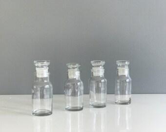 Vintage Apothecary Bottles set of 4