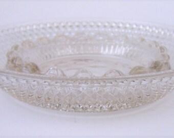 Vintage Elegant Cut Glass Ashtray