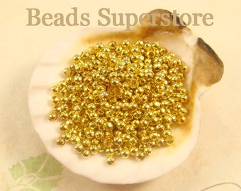 2.2 mm Gold-Plated Round Bead - Nickel Free and Lead Free - 200 pcs