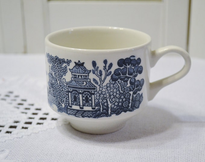 Churchill Blue Willow Cup Blue and White Asian Design England Vintage China Replacement Panchosporch