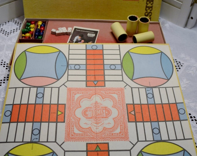 Vintage Parcheesi Board Game Selchow Righter 1975 Complete Family Game Night Retro Toy Panchosporch