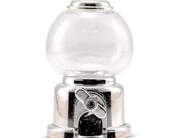12 pcs Silver Mini Gumball Machine Box Container - WS4597-77