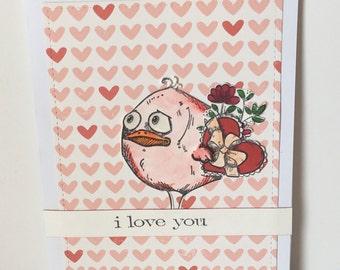 Charlie: Crazy Bird Valentine, Love, Anniversary Card