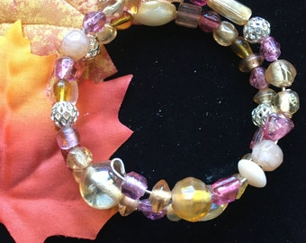 Beautiful Peach Wrap Bracelet