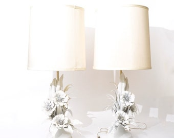 Beautiful Vintage Italian tole lamp pair ON SALE!