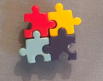 Autism Awareness Puzzle Piece pin