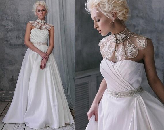 Bridal Gown Milora Unique Wedding Gown Simple Wedding: Neila / Unique Wedding Dress Simple Wedding Dresssilk Wedding