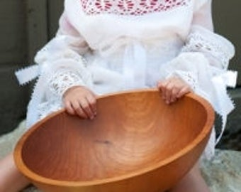 Extra Large Deep Wooden Salad Bowl (8 Servings)