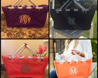 Market Tote - Monogrammed - Various Colors