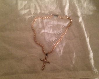 Antique Child's Cross Necklace