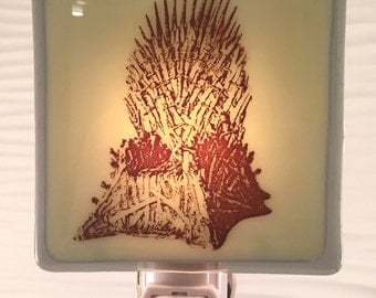 Game of Thrones Iron Throne Night Light Fused Glass