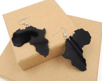 "SALE Black small  ""MAMA AFRICA"" Earrings"