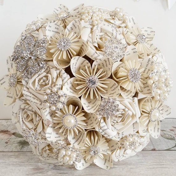 paper flower bouquets for weddings items similar to paper wedding bouquet origami bridal 6365