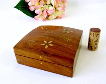 Vintage Teak Tobacco Box Sowe Konst Mid Century Danish