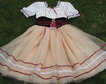 Vintage German Style Folk dress - Renaissance Fair - Folk dress