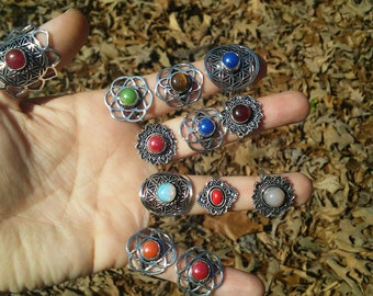 Beautiful flower of life rings. 5 different styles to choose from.