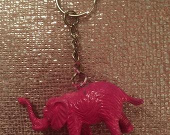 "Pink elephant keyring 2"""