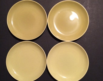 Russel Wright Plates Yellow Avacoda Bread Butter Desert Plates 4