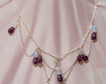Amethyst Chain Drop necklace