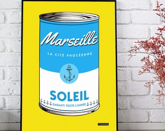 Affiche POP 'MARSEILLE in a can' POP Poster