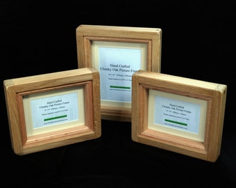 """10"""" x 8"""" Chunky Oak Picture Frame -  Hand Crafted by 'Chunky Oak Designs'"""
