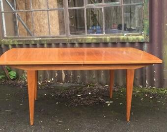 SOLD Vintage mid century extendable teak dining table