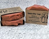 Rose Soap, Body Bar Tallow Soap Homestead Inspired 5 oz