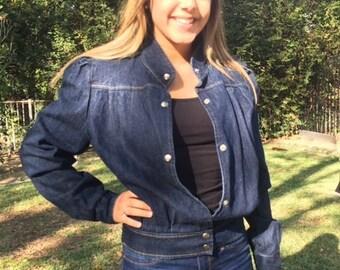 Denim jacket,jean jacket,dark blue denim, 10, 12, panhandle slim