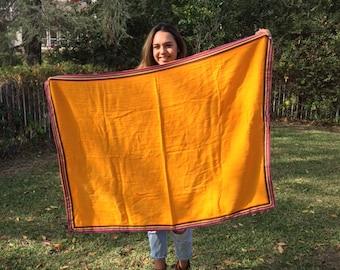 Serpe  scarf, large orange scarf, rainbow, scarf, wrap