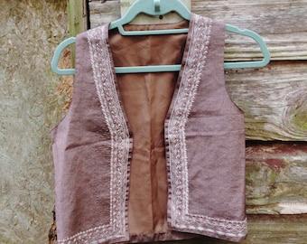Vintage Brown Ethnic Indian Vest