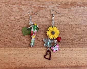 Tropicana - Mismatched Earrings